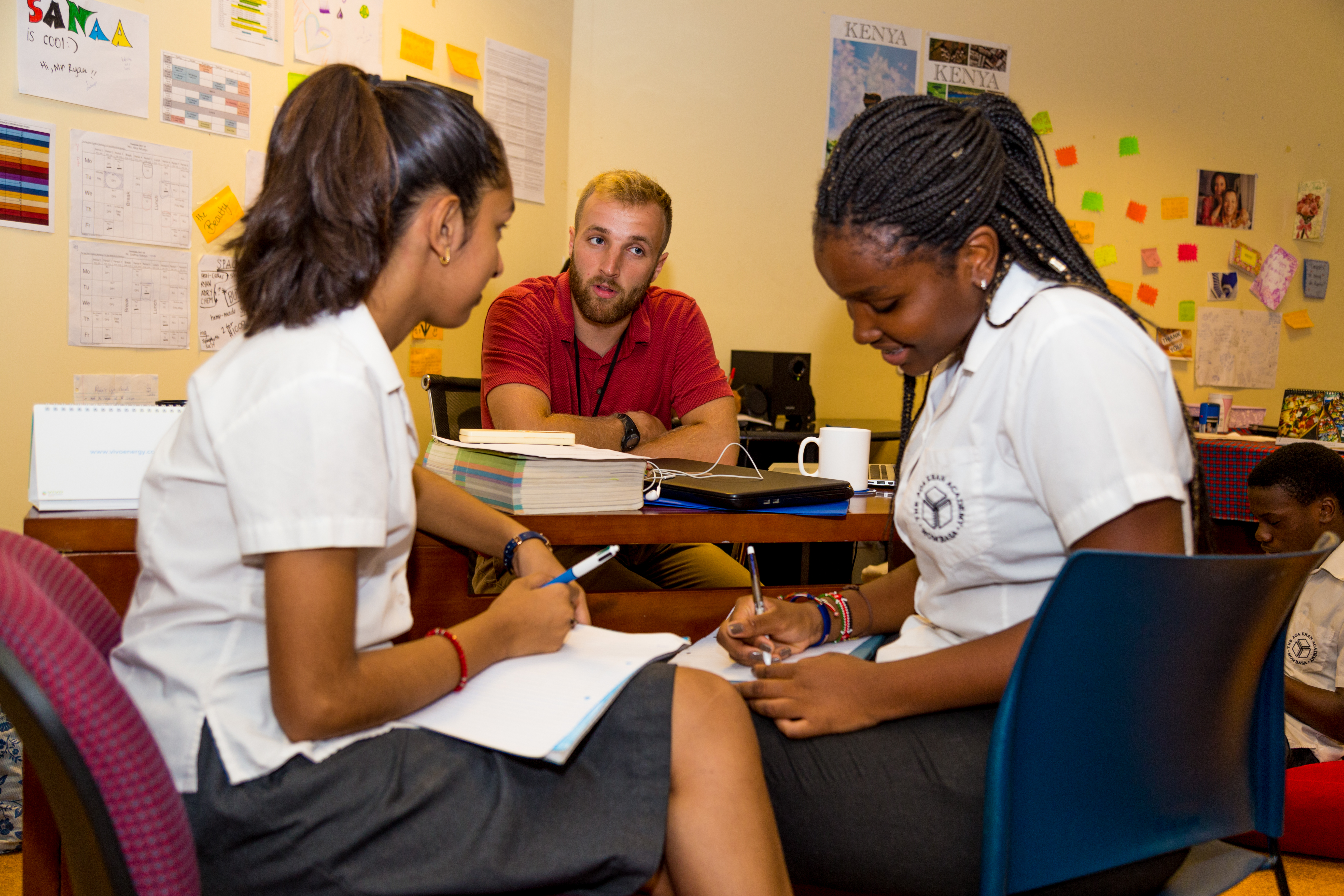 Ryan, works with students on their university applications