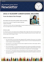 AKA Hyderabad Junior School newsletter August 2016
