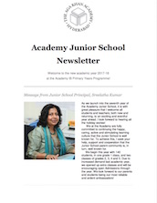 AKA Hyderabad Junior School Newsletter Aug 2017