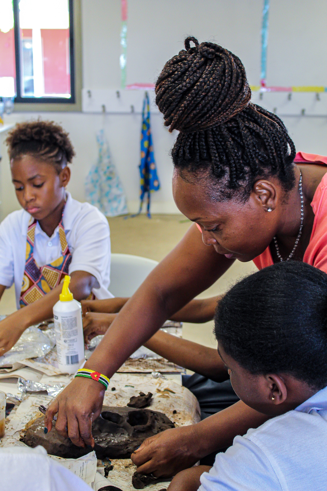 Rosa conducts mask-making classes through her Drama classes as another form of self-expression.