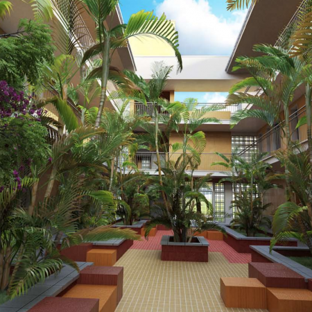 Interior Courtyard of Student Residence