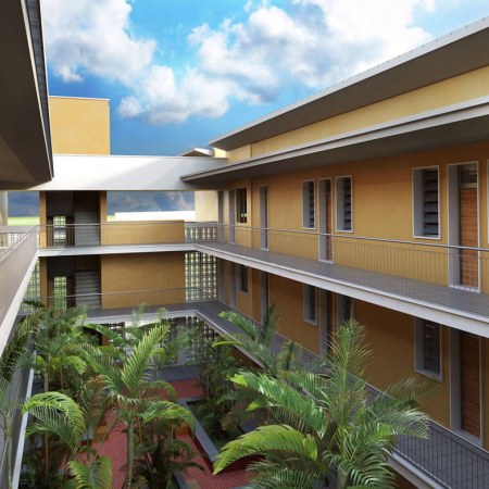 Student residences - interior courtyard