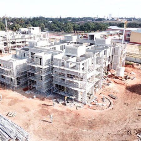 Residence Block under construction