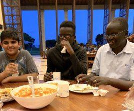 Mr. Michael Ojuma with students