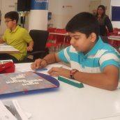 Sian Virani playing Scrabble