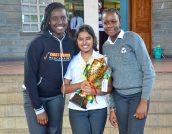 Hilda Maichibu (year 10), Sonakshi Roy (year 9) and Abigail Obiero (year 6)