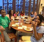 From right to left: Clemence Mwanjele (Year 9), Agape Nyamawi (Year 9), Nadia Ntege (Year 9)