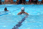 Student competing in 200m Breastroke