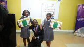 Abigael Obiero and Dinisha D'Silva with Mr. Mbinji