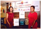 Senior School Librarians Joyce Wangari and Phylis Nyariki at Maktaba Awards Gala