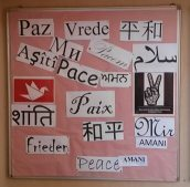'Peace' written in different languages