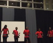 Individual dance performance by girls from Block 1