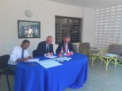 Signing of the MOU by the three parties