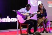 Hezekiah Owuor and Aroha Oyugi with a beautiful musical performance