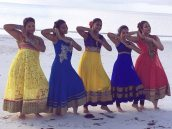Anoush with the other dancers