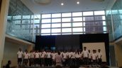 "Year 5 students perform ""Man in the Mirror"" at the opening ceremony"