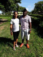 Sara Alidina with Coach Ndungu