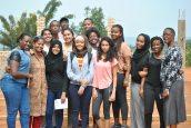 The Rwanda group together!