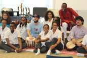 Homayoun and Salar with some of the Academy's music students and Mr. Philip