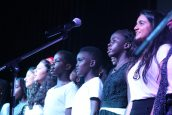 The school choir, Voices for Change, graced the stage as an opening act