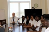 Ray Zinsli along with six Academy students