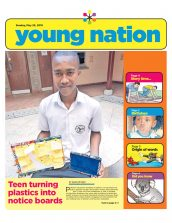 Omar Mwakuluzo, year 10, is featured in the Daily Nation.