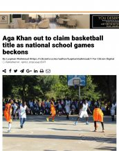 AKA Mombasa's boys' basketball team is mentioned in Citizen TV in preparation for the national games.