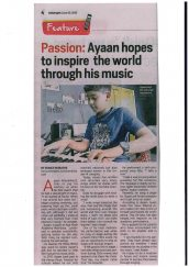 Ayaan Allarakhia is featured in the Daily Nation for his music.