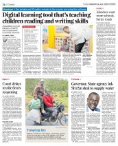 The Daily Nation features a technological initiative led by AKA Mombasa's Professional Development Centre.