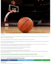 Boys' and girls' basketball teams are featured.