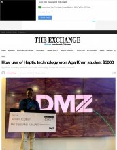 Raphael Mwachiti is featured in The Exchange for his project idea.