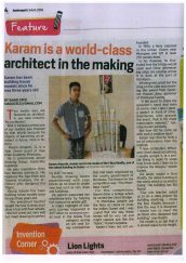 Karam Amarshi, year 7, is featured for his dream of becoming an architect.