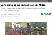 Concordia spurs innovation in Africa