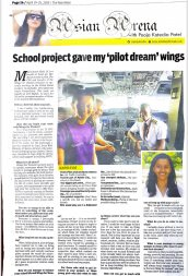 Mahek Shah, year 10, featured in The Nairobian for her aviation project.