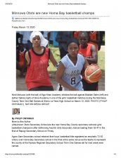 Aga Khan Academy Mombasa mentioned in The Daily Nation for defeating competitors in semifinals at County games
