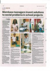 AKA Mombasa's personal project exhibition is featured in The Star.