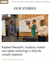 Raphael Mwachiti is featured in The Aga Khan Development Network for his project idea.