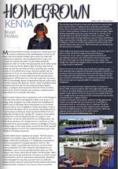 Bryan Matiba, class of 2013, is featured in Coastal Guide.
