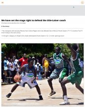 AKA Mombasa's boys' basketball team is featured in The Star.
