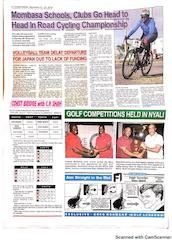 Josette Njeri, year 10, trains for cycling championship