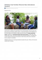 Josephine Awino Odhiambo, class of 2018, featured on Wellesley College's website