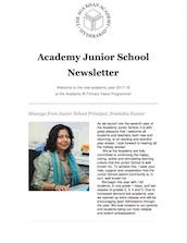 AKA Hyderabad Junior School Newsletter Aug 2017