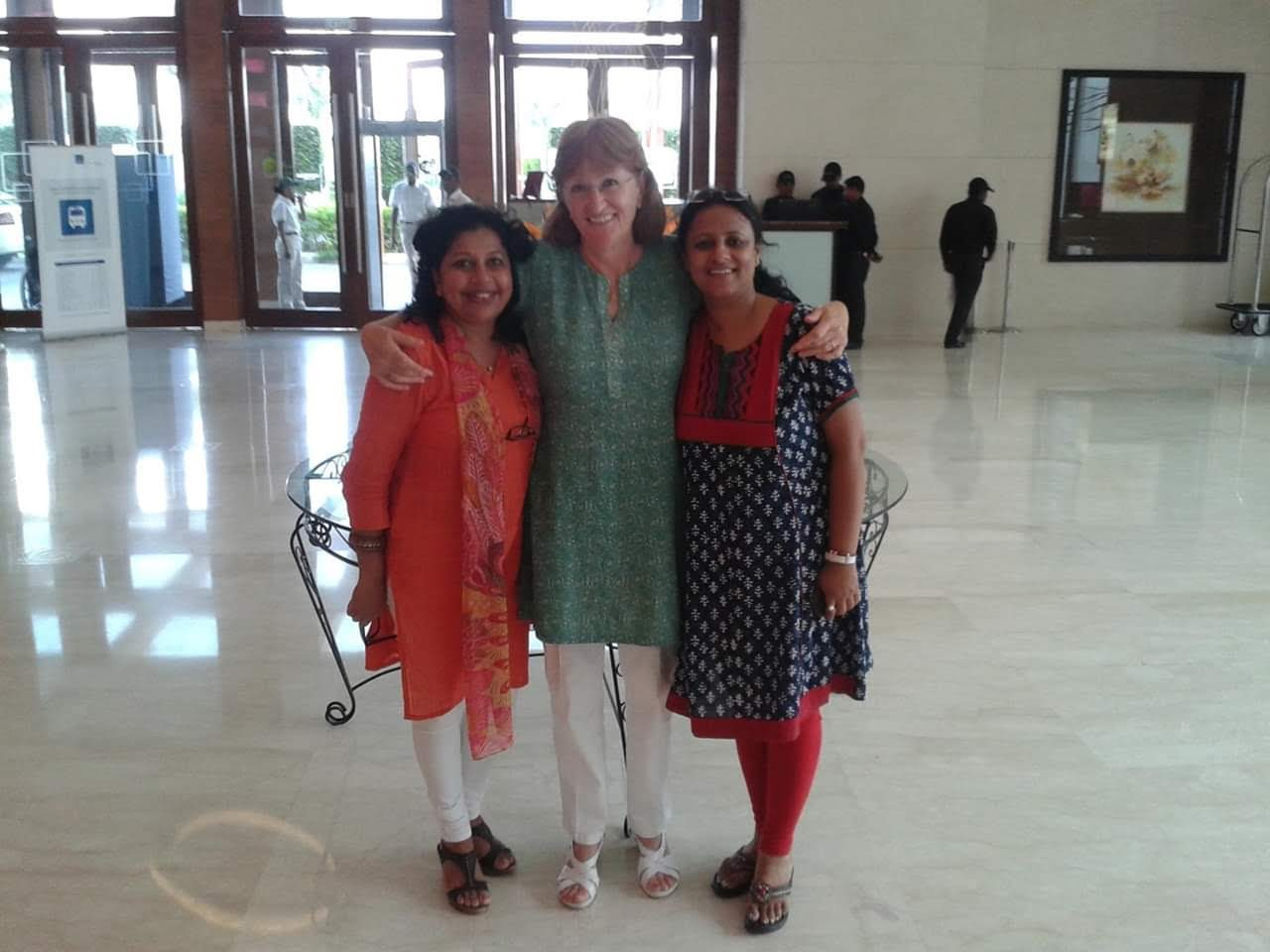 Laboni with her colleagues when she first joined AKA Hyderabad