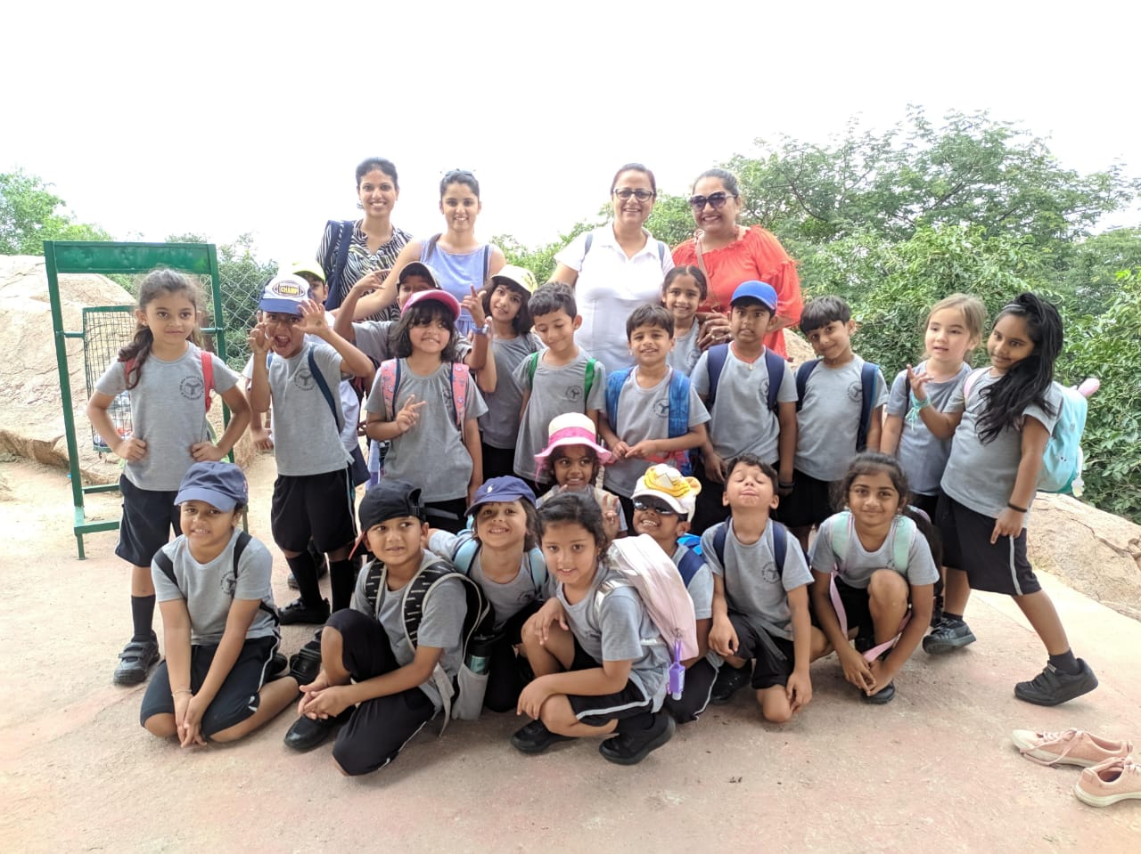 Laboni with her Grade 3 class on a field trip