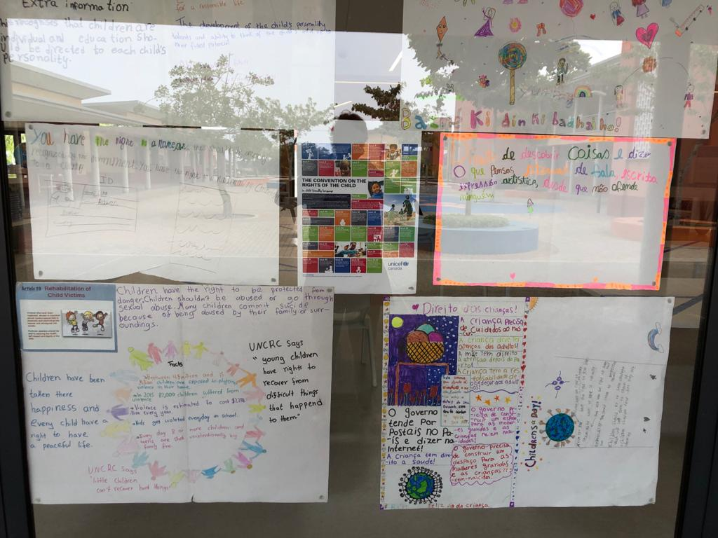 Junior School students' posters for Mozambican Children's Day