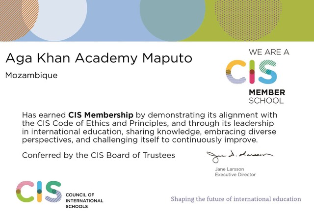CIS certificate for AKA Maputo