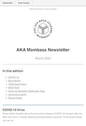 Aga Khan Academy Mombasa Newsletter - March 2020
