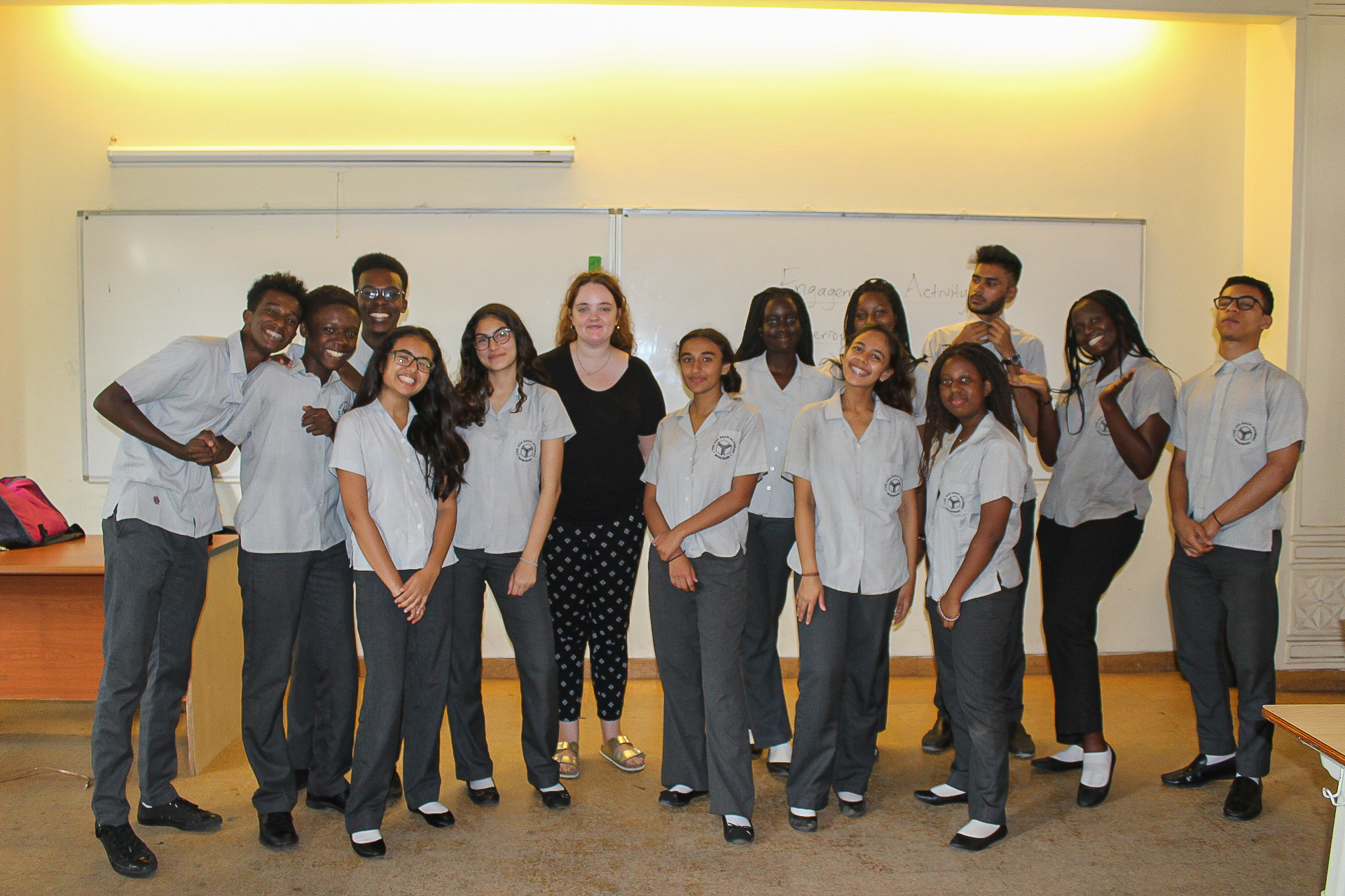 Harriet with her students