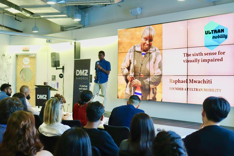 Raphael Mwachiti at DMZ Basecamp