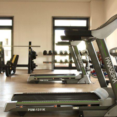 Two treadmills